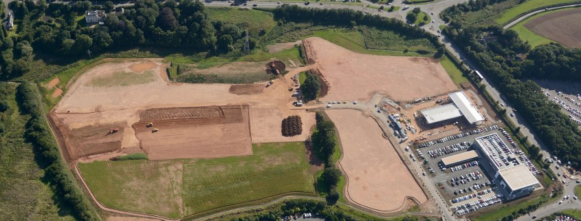 Recent Aerial Photo of Works Progessing